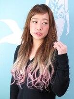 マーメイドヘアー(mermaid hair)グラデーションエクステでクリンプヘアー