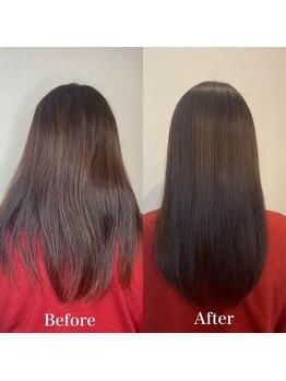 ヘアーラボ ユニの写真/UNIオリジナルの【髪質改善ストレート】はずっと触っていたくなる自然でうるツヤの仕上がりの縮毛矯正♪