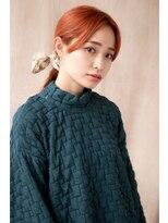 三つ編みスカーフアレンジ