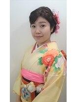横濱ハイカラ美容院(haikara美容院)ヘアフォーマルな振袖着物&ヘアセット