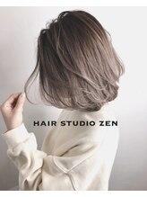 ヘアースタジオ ゼン(hair studio Zen)外国人風ハイライト