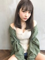 【Angelica】グレージュジグザグバング3Dカラー