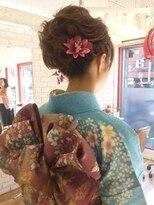 卒業式/入学式/成人式/結婚式 和装アップヘア×着付け 振袖/袴