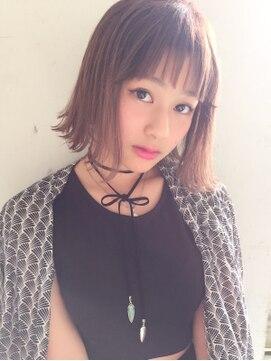 アクシス 栄ガスビル店(`AXIS)AXIS【naya's style】オルチャンシースルーバング×タンバルモリ