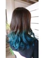 ヘアサロンアンドリラクゼーション マハナ(Hair salon&Relaxation mahana)ダブルカラー*ブルー