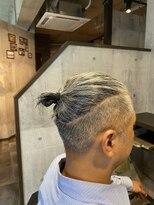 男の理想!白髪でマンバン。