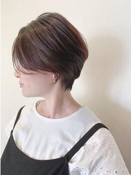 ヘアーメイク グレース ヴィヴィ(HAIR MAKE GRACE ViVi)の写真/《女性目線×ハイセンスな技術》で創る美フォルムカットで360度キマル☆丸みを帯びたショートスタイルが◎