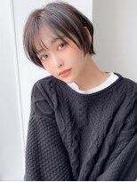 アグ ヘアー リノ 大名店(Agu hair reno)《Agu hair》しっとりツヤ質感の暗髪ショート