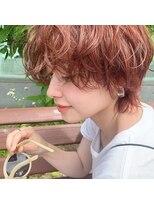 《 この夏No1style☆ 》オレンジベージュのプチウルフショート*