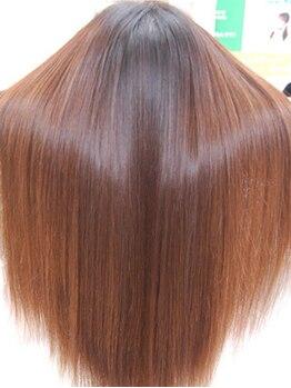 ブルームプレミアム(bloom PREMIUM)の写真/【bloom PREMIUM】自慢の髪を傷ませないトリートメントストレート『リマイン』で自然な仕上がりに♪