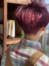 リドルヘアー 石井町店(Riddle hair)カシスピンク
