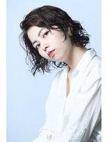 ヘアーアイスカルテット(HAIR ICI QUARTET)ミディアム × ウェーブ × パーマ × 色気