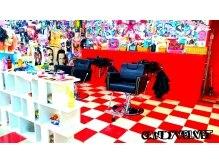 美容室キャンディー ベルベット(Candy Velvet)の雰囲気(派手だけど何故か意外と落ち着く店内は一度来たらやみつきです☆)