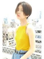 【morio 原宿】ハンサムショート 黒髪 センターパート 前髪なし