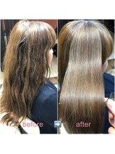 ブローテ ヘアアンドメイク(brote hair&make)高難易度縮毛矯正 121 (ブリーチ毛)【堺市・なかもず】