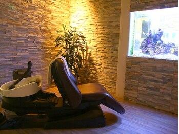 ヘア スパ リゾート リアン(hair spa resort Lien)の写真/巨大なアクアリウムを目の前にしたスパ専用の『特別ルーム』☆贅沢なひとときをぜひ堪能してください―♪