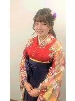 横濱ハイカラ美容院(haikara美容院)卒業式のフォーマルな袴とヘアセット