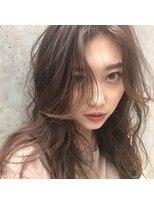 アリーズヘアー 青山(allys hair)愛され フェザーロング 3Dカラー ◇ ヌーディーベージュ
