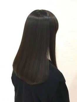 ミミックヘアー(MiMic hair)の写真/【髪質改善】話題の【酸性ストレート】導入!!ダメージレスで潤いのある自然な仕上りに♪【桐生美容室】