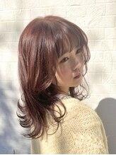 スーリール イマイズミ(Sourire Imaizumi)sourireimaizumi山崎:ピンクミディアムレイヤー