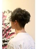 メンズヘアースパイス ユメサキ(Men's Hair SPICE -yumesaki-)前下がりスパイラルパーマ