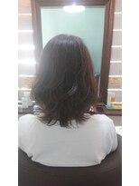 ヘアサロンアンドリラクゼーション マハナ(Hair salon&Relaxation mahana)ブルーアッシュ×外はねボブ