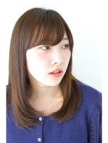 ブリック ヘアアンドスパ(BRICK HAIR&SPA)【BRICK】艶髪シンプルセミディ