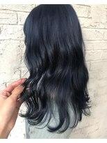 韓国風ネイビーブルー艶カラー寒色系カラー7016
