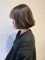 シアン ヘア デザイン(cyan hair design)【cyan】シースルーバングボブ×シアーアッシュ