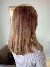 ドレス(hair design & care DRESS)パステルカラー×ハニーゴールド
