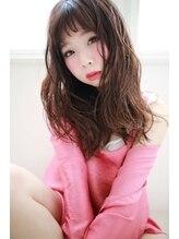 ラフィス ヘアー スワッグ 枚方店(La fith hair swag)【La fith】ピンクレッド×セミロングスタイル