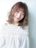 アルバム シブヤ(ALBUM SHIBUYA)ラフミディ_ヴェールウェーブブルージュアシメショート_73677
