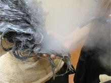髪質改善外科ヨシユキコンディショニングの雰囲気(3.5気圧高圧蒸気で入れ込むトリートメント)