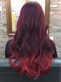 """ヘアーアンドカフェ マット(Hair&Cafe M.A.T)の写真/話題の""""高色密度カラー""""!!透明感と柔らかさをプラスした、ワンランク上のツヤ感・高発色を演出♪"""