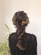 ヘアーコレクトニコ(hair collect nico)結婚式お呼ばれヘアアレンジ×編みおろし
