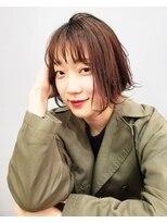 エイム ヘアメイク 横川店(eim HAIR MAKE)ピンクベージュがかわいい☆カジュアル切りっぱボブ