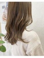 ロンドプランタン 恵比寿(Lond Printemps)ベージュカラー ゆるふわミディアムヘア