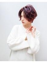 ヘアアンドエステ ヒロイン 西麻布本店(Hair&Esthe HIROIN)【横顔美人】ピンクアッシュショート