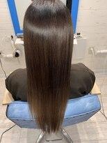 スローライフヘアーデザインアンドスパラウンジ(Slow life Hair design spa lounge)潤ツヤロング 質感矯正ミネコラ×水素原子バスク