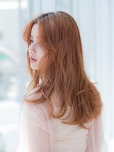 ノブヘアデザイン 杉田店(NOB hairdesign)〈NOB hairdesign 杉田店〉フレンチウルフ風オレンジアッシュ