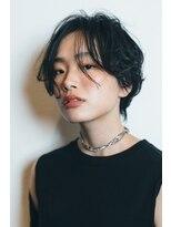 マウロア(MAULOA)【Mauloa】シースルーバング ワンサイショート 黒髪