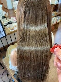 ニコラ(NICOLA)の写真/パサつき、ひっかかり、ダメージ、広がり、こんなお悩みの方は高濃度水素髪質改善にお任せください。