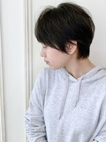 【morio下通】大人かわいい黒髪マニッシュショート
