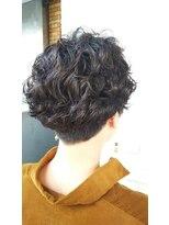 ヴィサージュファイン(VISAGE fine)黒髪でもオシャレ☆2ブロパーマスタイル