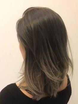 """コーラー ヘアアンドスパ(Coller Hair&Spa)の写真/【徹底的なダメージレス】日本人特有の赤みを打消し、""""なりたい髪色""""を叶えます◎カラーする程輝く髪へ…"""