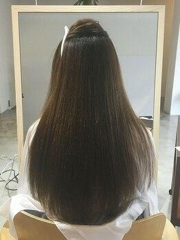 """コル(qol)の写真/7STEPの革新的なプロセスでさらツヤ美髪が叶う!一般的な薬剤とは違う""""BIKAKU""""使用で感動の仕上がりに―…"""