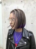 チクロヘアー(Ticro hair)【チクロヘアー大石】テールカラーパープル