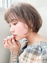 リップス 銀座店(LIPPS)【LIPPS銀座】(安田愛佳)ニュアンスパーマの丸みショートボブ