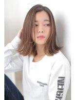 ジーナシンジュク(Zina SHINJYUKU)☆Zina☆外ハネミディ×フェアリーベージュ