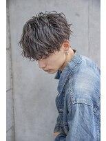小久保style☆くすみブルーくせ毛カットツイストスパイラル